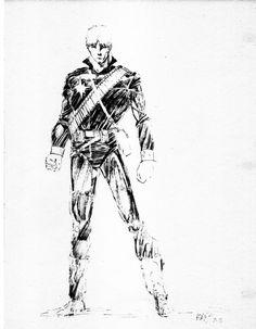 Longshot by Arthur Adams. 07/83 Comic Art
