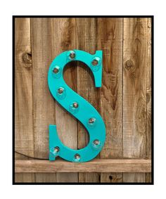 Marquee Wood Lighted Letter, number or ampersand for any room, Last name, children initials , decorate your childs room or on a shelf or hanging in any