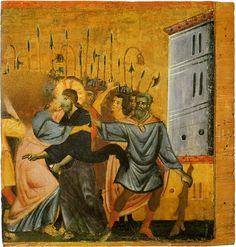 Guido da Siena, Betrayal of Christ, about 1275-1280, Pinacoteca Nazionale di Siena