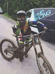 For more great pics, follow bikeengines.com #bike #girl #dirty #muddy