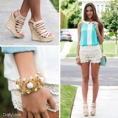 Lace Tiered Shorts