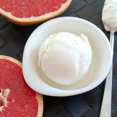 Tart pink grapefruit is paired with a sour cream ice cream base for a tangy and sweet treat that will be sure to cure your winter blues.