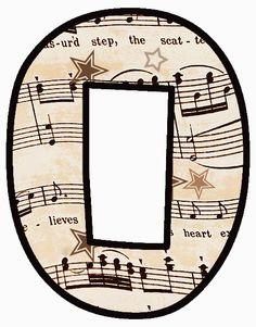 "ArtbyJean - Vintage Sheet Music Alphabet ""O"" Letter Symbols, Alphabet And Numbers, Alphabet Letters, Vintage Sheet Music, Vintage Sheets, Make Your Own Card, Music Party, Music Classroom, Vintage Labels"