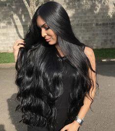 lange dunkle haare