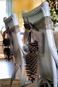 Nice Christmas Chairback~~~~~~~~~~Sophia's: Nature-Inspired Holiday Dining