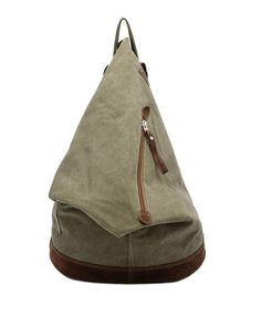 Soft Military Green Oversized Canvas Backpack £37.77