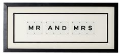 MR & MRS vintage playing card frame, such a good wedding or christmas gift for the happy couple. http://littlemillhouse.co.uk/index.php/walls/vintageplayingcards/mr-mrs-vintage-playing-card-frame.html