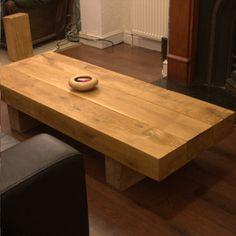 Rectangular Oak Sleeper Coffee Tables
