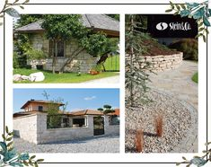 Mehr als eine Abgrenzung: Die Naturstein-Mauer ist ein formschöner Sichtschutz, mal ein Gestaltungselement im Garten oder spielt eine tragende Rolle. Mansions, House Styles, Home Decor, Privacy Screens, Natural Stones, Summer, Lawn And Garden, Nice Asses, Decoration Home