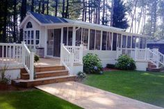 35 single wide manufactured home deck design idea