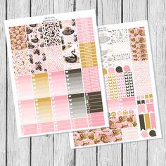 Black Swan Planner Sticker Happy Planner Printable by SpotOnPrints