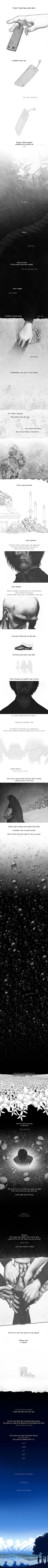 This is so sad, and touching. I just saw it and had to repin. A MUST SEE -- Your Suicide by ~linnyxito on deviantART