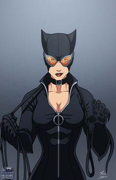 Selina Kyle - #Catwoman by #PhilCho.. followme on facebook like #LoRetroEsChido