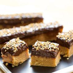 Fudges à la ganache chocolat/sésame