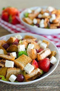 Chicken, Feta and Strawberry Salad | Slimming Eats - Slimming World Recipes