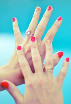 Pimp your nails with a touch of gold and the ring is gorgeous!