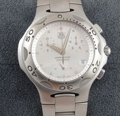 Mens Tag Heuer Kirium Chronograph Watch Stainless Steel Silver Dial CL1111 0 | eBay