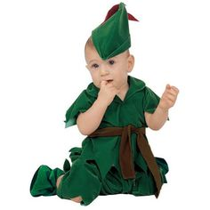 Our infant Peter Pan outfit is the perfect baby boy costume. Your little one will grab all the attention this Halloween with this adorable outfit. For a great f