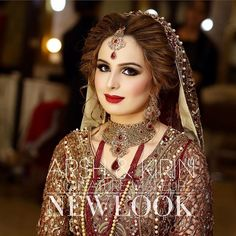 Traditional Baraat look in a signature makeup. Gorgeous bride! ❤ #newlook #newlookbeautysalon #lahore #signature #makeup #baraat #wedding #traditional #gorgeous #bride #litfromwithin #lookoftheday #bridalmakeup