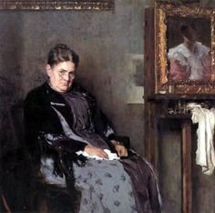 Artist's Mother, Bertha Marr  by Carl von Marr (American 1858 - 1936)