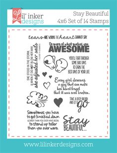 Lil Inker - Stay Beautiful stamp
