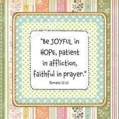 Faithful in prayer!!!