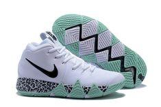 Nike kyrie 4 basketball shoes white green