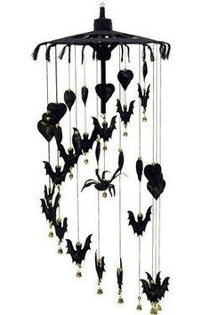 Halloween mobile with bats