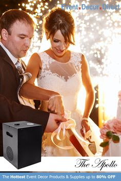 Event Decor Direct's The Apollo Cool Sparkler Machine is perfect to lighten up weddings and special events. Safe for use indoors and outdoors. This flame-less spark machine can shoot sparks up to 16 FT and an excellent alternative to fireworks. Buy Now at EventDecorDirect.com