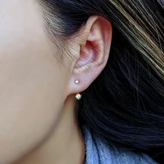 If you're familiar with my designs, you probably notice that I like to make dainty, elegant pieces with an edge. I love to create balance out of asymmetry. These ear jackets for example, are made with different sized stones: 2mm and 3mm cubic zirconia. I'm loving these so much I might make them available in all the 12 birthstone colors. Do you think this is a good idea?  🌟 Shop well & feel good: We donate half of our profits to SickKids Hospital! Link in Bio 🌟  #earjackets #czearrings Ear Jacket, Diamond Studs, Diamond Shapes, Rose Gold Earrings, Sterling Silver Earrings, Forward Helix Earrings, Double Sided Earrings, Bridesmaid Earrings, Bridesmaids