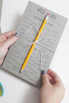 Wedding mad lib program. 15 Wonderful Wedding Programs @intimatewedding #weddingprogram #weddingmadlibs