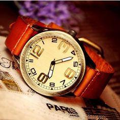 Stan vintage watches — Men's Retro Cow Leather Wrist Watches (WAT0040)