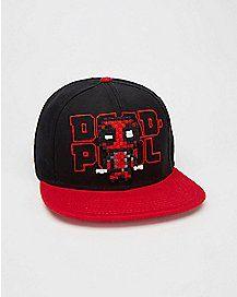Deadpool Pixel Snapback Hat Snapback Hats 54ee21068604