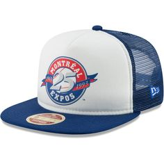 b2a97d0bffd Men s Montreal Expos New Era White Royal Cooperstown Collection Foam  Trucker 9FIFTY Snapback Adjustable Hat