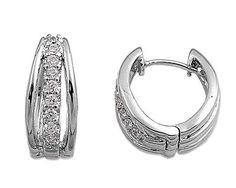 925 Sterling Silver Clear...
