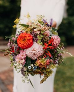 Photo of our rustic wedding bouquet for a very lovely August bride.
