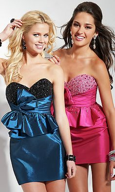 Short Strapless Sweetheart Dress  This could be cute!