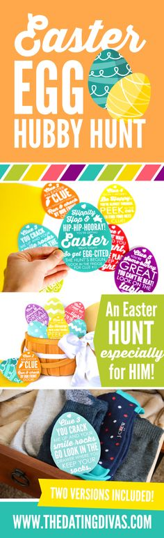 Easter Egg Hubby Hunt - free easter egg hunt clues to send your husband on a sexy and romantic easter egg hunt, Why should the kids have all the fun? traditions for couples Easter Egg Hunt Ideas for Couples - From The Dating Divas Hoppy Easter, Easter Eggs, Easter Egg Hunt Clues, Easter Scavenger Hunt, Scavenger Hunts, Kids Party Decorations, Ideas Party, Gift Ideas, Theme Ideas