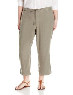 lane bryant wide leg linen blend pants - plus size 26 | size 16