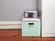 washi tape and white box