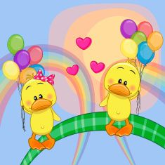 Illustration about Valentine card with Lovers Ducks flying on balloons. Illustration of cheerful, farm, drawing - 52352631 Baby Painting, Fabric Painting, Easter Paintings, Duck Cartoon, All Things Cute, Step By Step Drawing, Watercolor Cards, Free Illustrations, Cute Illustration