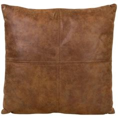 OH Winter Gaucho Faux Leather Cushion 45x45cm ($78) ❤ liked on Polyvore featuring home, home decor, throw pillows, brown, brown throw pillows, brown accent pillows, square throw pillows, inspirational home decor and winter throw pillows