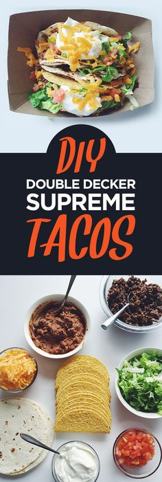 DIY Double Decker Supreme Tacos | 7 Tasty Dinner Ideas To Try This Week