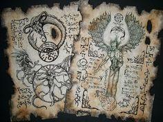 Cthulhu larp rituales oscuros Necronomicon rollos oculta magia de brujería horror steampunk