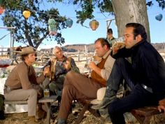 """Proposing a toast to """"Sir Hoss."""" From Knight Errant (Bonanza)"""
