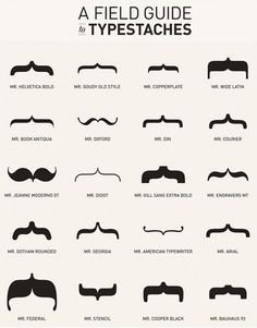 Haha cute!  //  Typestache-poster-old-tom-foolery-curly-bracket-font