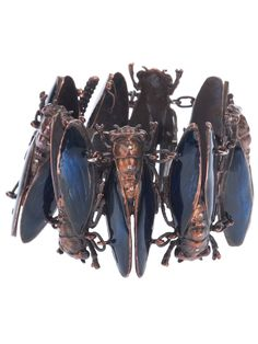 Cicada bracelet - I like the cicada motif very much, but this is too real....