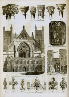 Gothic architectural drawings
