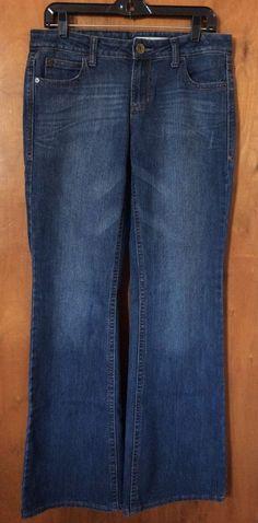 EUC DKNY JEANS Women Flare Jeans Size 8 Mid Rise Dark Wash Women Denim Pants #DKNY #Flare