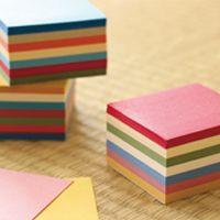 いろわし 手のひらサイズの小さな和紙おりがみ。日本の和の色を集めました。 7色×各50枚 ¥400